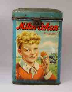 Milk - corners Henze old tin can 30s Eilenburg