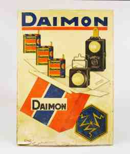 Vintage Old Sign Litho Advertising Board DAIMON
