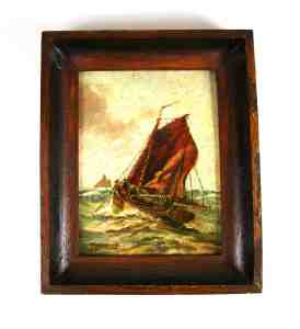 Sail Ship Oil Painting - Franz Ambrasath (1889-1974)