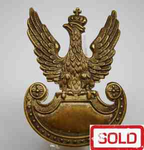 WW II Polish Eagle Cap Badge